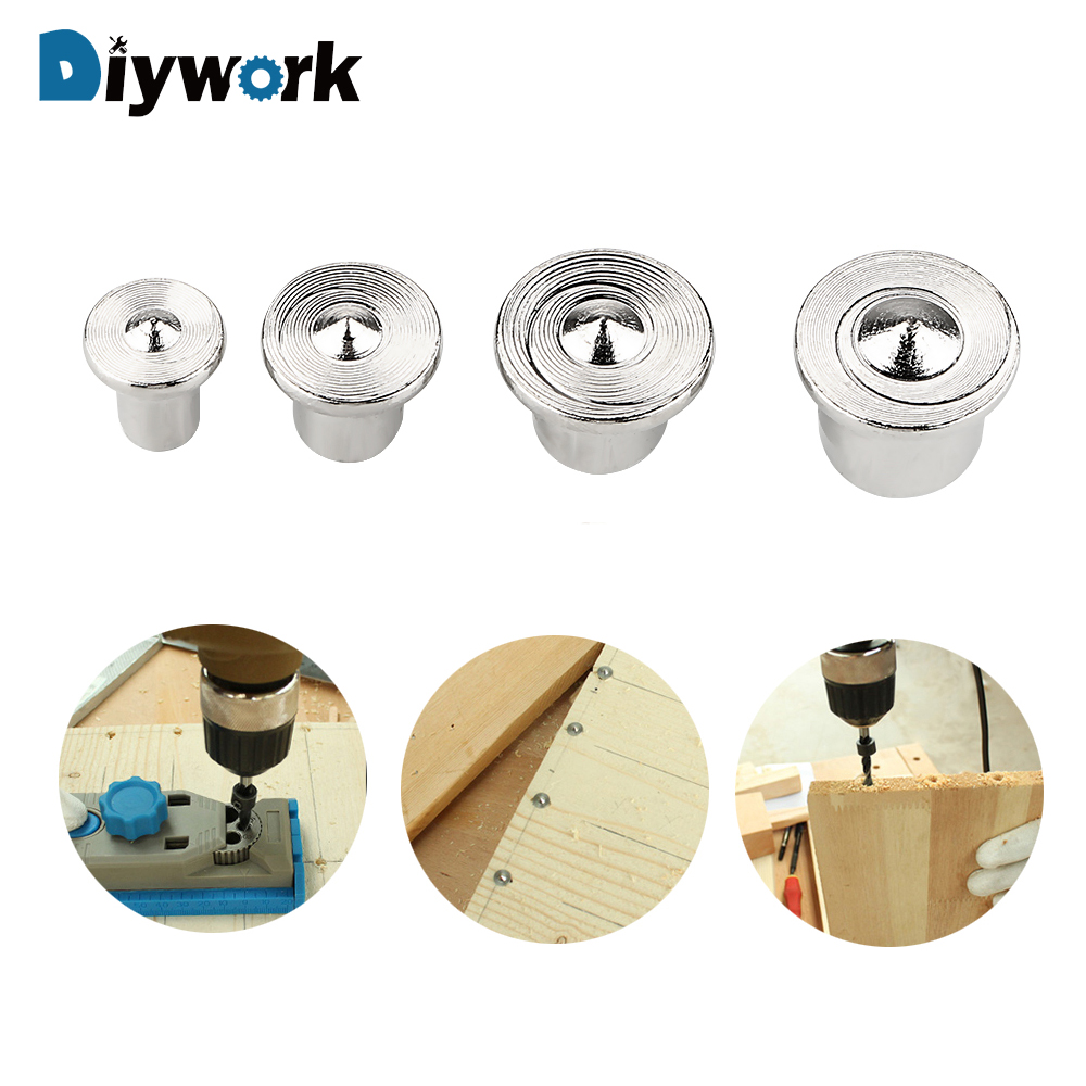 DIYWORK 4 Piece/set Furniture Positioning Tools Log Pin Locator Woodworking Log Locator Dowel Center Punch Accessories