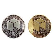 Нео монета Виртуальная металлическая памятная монета Нео Виртуальная монета Биткоин памятная монета медаль под заказ подарок
