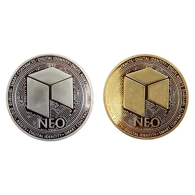NEO Coin Virtual Metal Commemorative Coin NEO Virtual Coin Bitcoin Commemorative Coin Customized Medal Giveaway