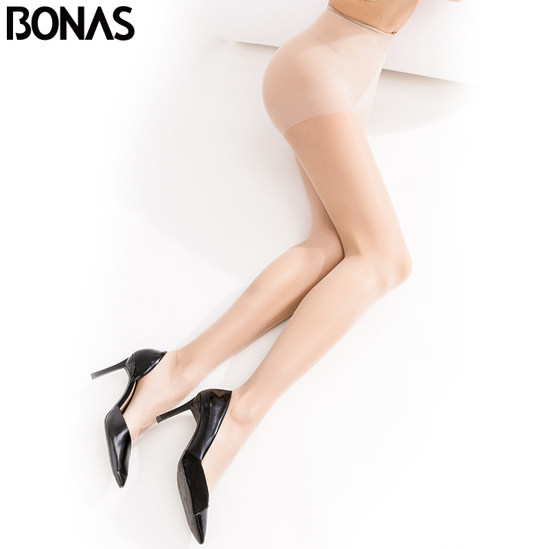 BONAS  15D Panty Breathable Tights Tear-resistant Women Pantyhose Ultra-thin Nylon Sexy Stretchy Stockings Female Collant