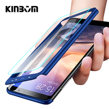 KINBOM 360 Full Protection Case For Xiaomi Redmi 6 5 5a 6plus 4 5plus 4X Note 6pro Note7 Phone Cover