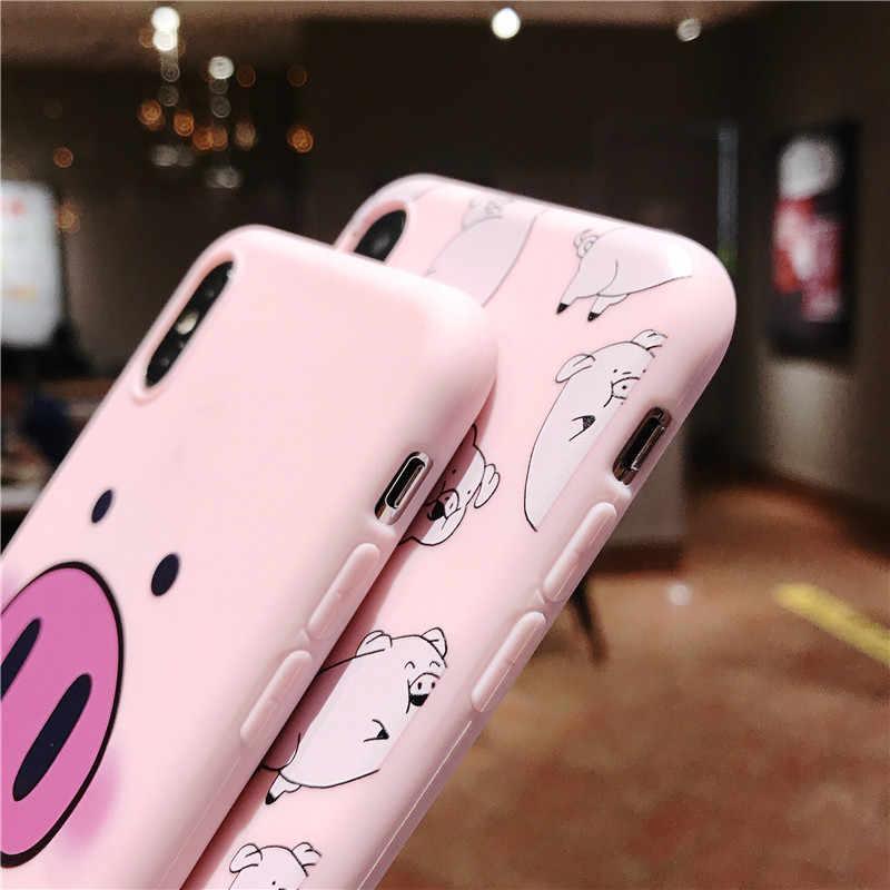 Ottwn Ốp Lưng Điện Thoại Iphone 11Pro Max XS Max XR 7 8 6 6 S Plus 5 5S SE cặp Đôi Họa Tiết Hoạt Hình Dễ Thương Heo Mềm TPU Ốp Lưng Silicone Ốp Lưng