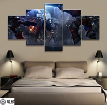 Home Decor Modular Canvas Picture 5 Piece Kerrigan StarCraft Game Painting Poster Wall For Home Art Canvas Painting Wholesale canvas painting poster colourful leaf trees 4 piece painting wall art modular pictures for home decor wall art picture painting