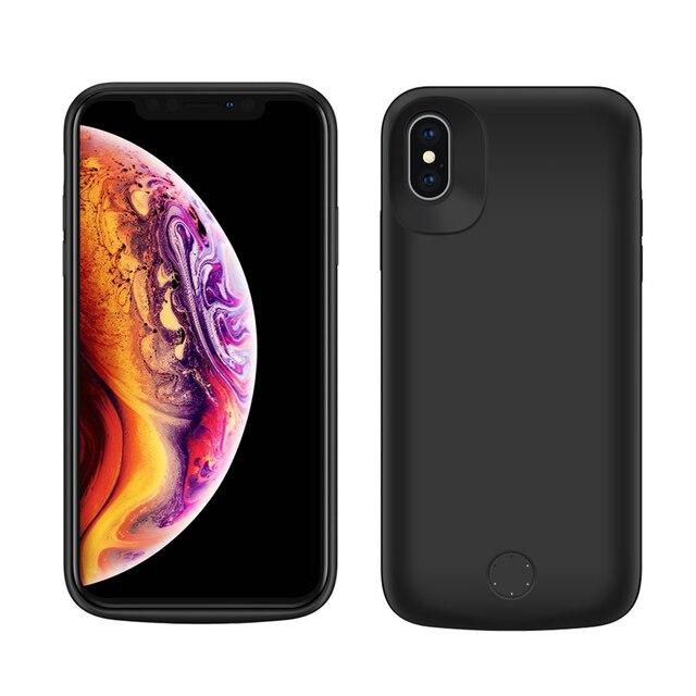 IPhone Xs için Max Pil Kutusu 6000 mAh Ince harici taşınır pil Şarj Güç Bankası Koruyucu iPhone için kılıf Xs Max kapak