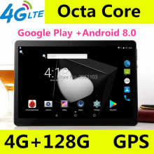 New 10 inch Octa Core 3G/4G Tablet pc 4GB RAM 128GB ROM 1920*1200 Dual Cameras Android 8.0 Tablets 10.1 inch Free Shipping lnmbbs tablet 10 1 android 5 1 tablets point of sale android 3g children tablet octa core 1920 1200 ips 2gb ram 16gb rom store
