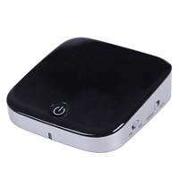 Bluetooth audio receiver adapter with fiber input and output