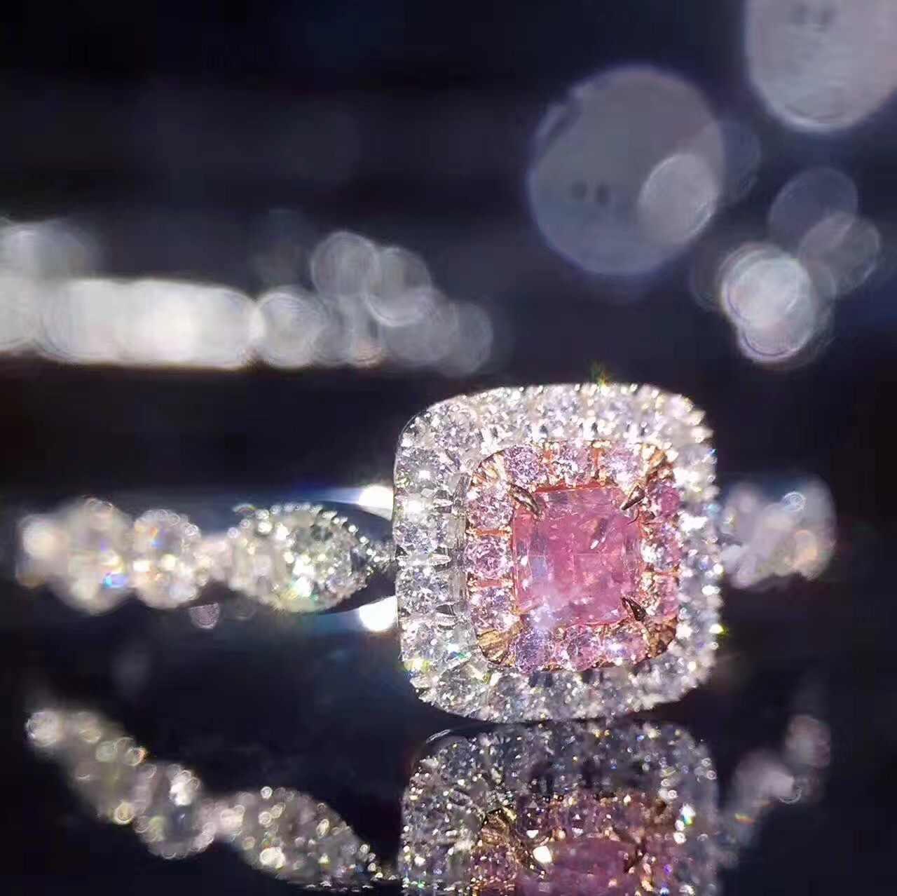 Квадратное кольцо роскошное 14 K Золотое кольцо с розовым бриллиантом обручальное кольцо драгоценный камень аметист кольца для женщин anillos ювелирные изделия Перидот Bizuteria