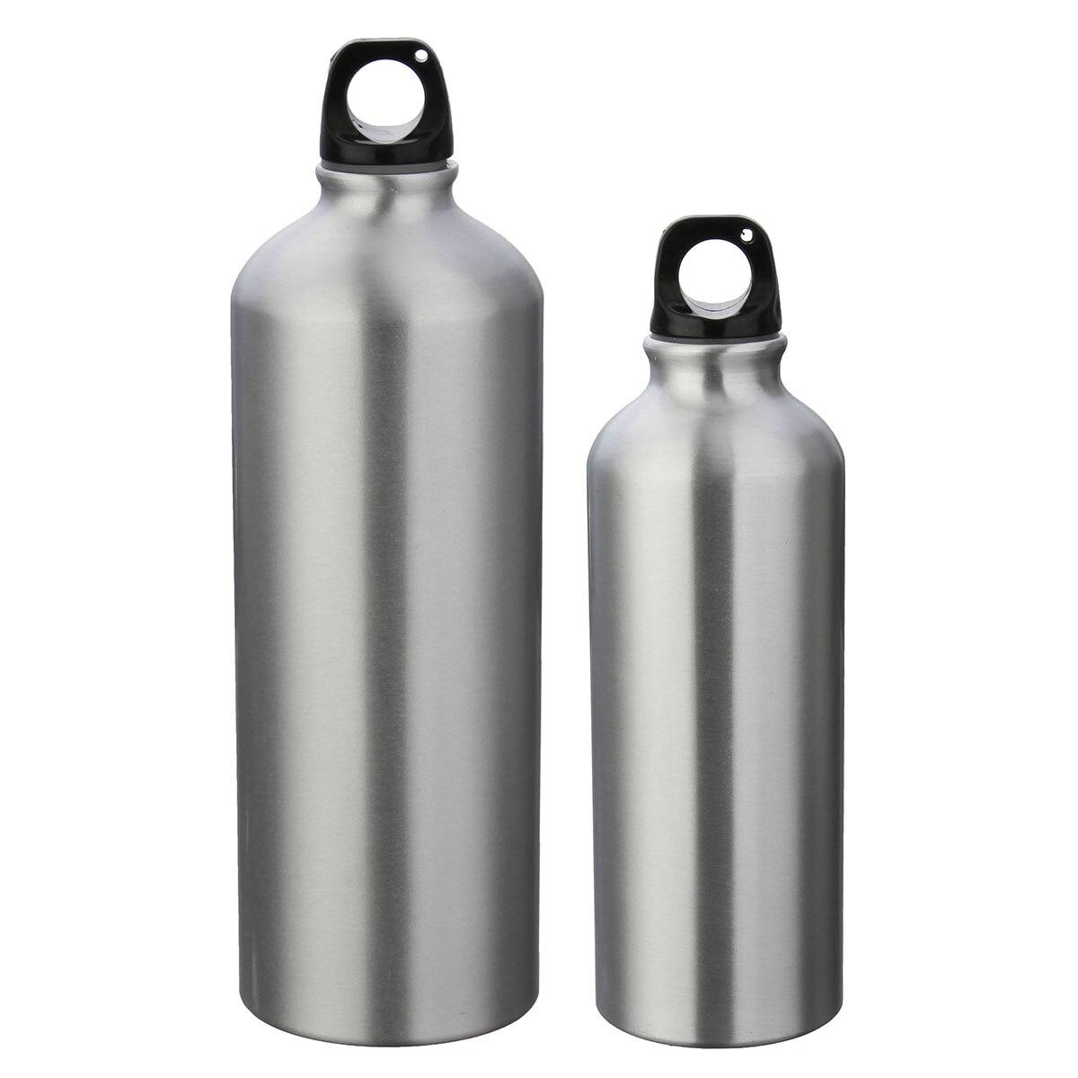 1PC Water Bottle 500ml 1000ml Aluminium Drinking Outdoor Sport Kettle Bicycle Climbing Hiking Travel Supplies Drinkware