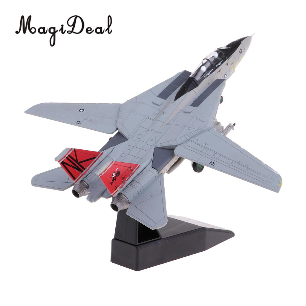 MagiDeal <font><b>1:100</b></font> Scale Alloy American F-14 Airplane <font><b>Aircraft</b></font> Fighter Toy <font><b>Model</b></font> Diecast Plane <font><b>Model</b></font> Toy Home Decor Collectables image