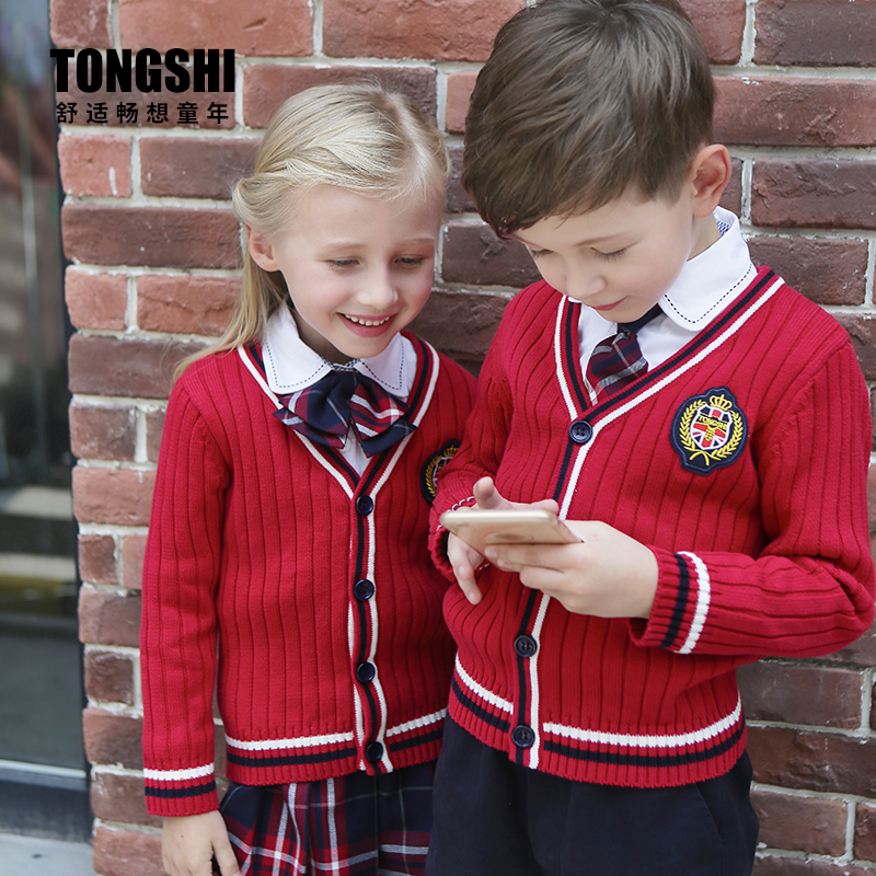 La performance des enfants de l'uniforme scolaire coréen convient au costume de jupe de fille d'école uniforme japonais
