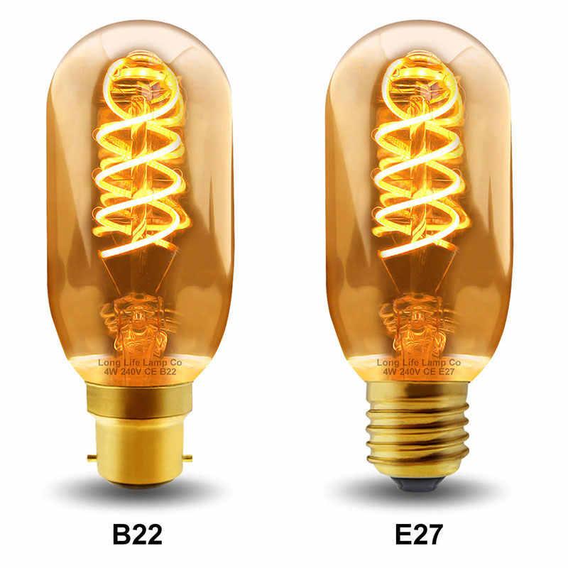 40W בציר E27 T45 Teardrop ספירלת נימה אור הנורה רטרו מנורות עבור קפה חנות בית דקורטיבי תאורה