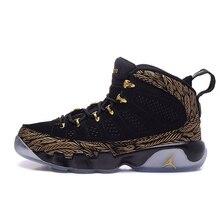 2b61a66395e0 All Black Jordan Retro 9 Women Basketball Shoes 2010 Release Cool Grey Og  Space Jam High Athletic Ladies Sport Sneakers 36-39