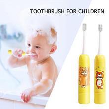 Children Electric Toothbrush Cartoon Pattern Double-sided Tooth Brush Electric Teeth Brush For Kids Waterproof Whitening Oral