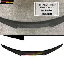 E90 Spoiler Rear Diffuser Trunk Lip Wing M4 Style FRP Primer black for BMW E90 320i 325i 330i 335i 320d 325d Trunk Spoiler 05-11 цены онлайн
