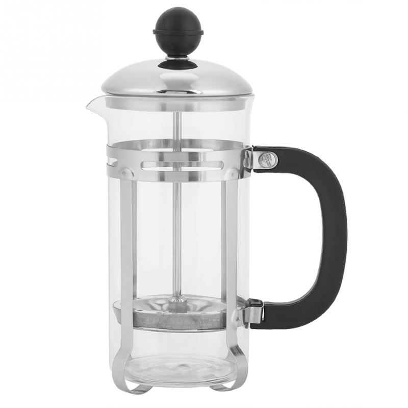 CSS 350Ml Stainless Steel Glass Hollow Coffee French Filter Coffee Pot Coffee Tea Pot Press Plunger