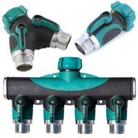 3/4 Inch Splitters Hose Valve Threaded Check Water Pcs/Set Flow Switch Irrigation Pipe Eliminate leaks the joint.