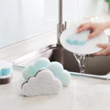 Губка в форме облака, домашняя щетка для чистки, инструменты для обеззараживания, волшебное натирание, 1 губка, Экологически чистая щетка