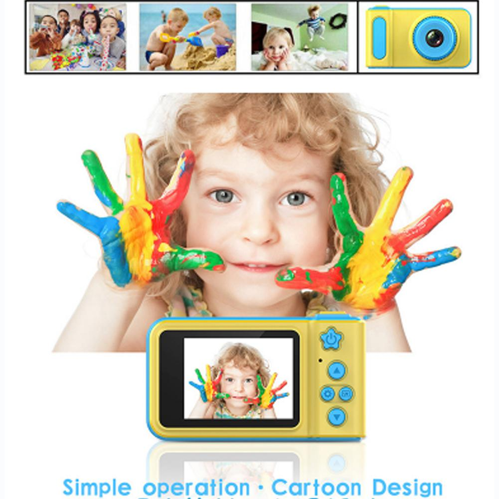 Mini Digital Camera Cartoon Game Photo Puzzle Toy For Kids Support DF Card Children Cute Gift