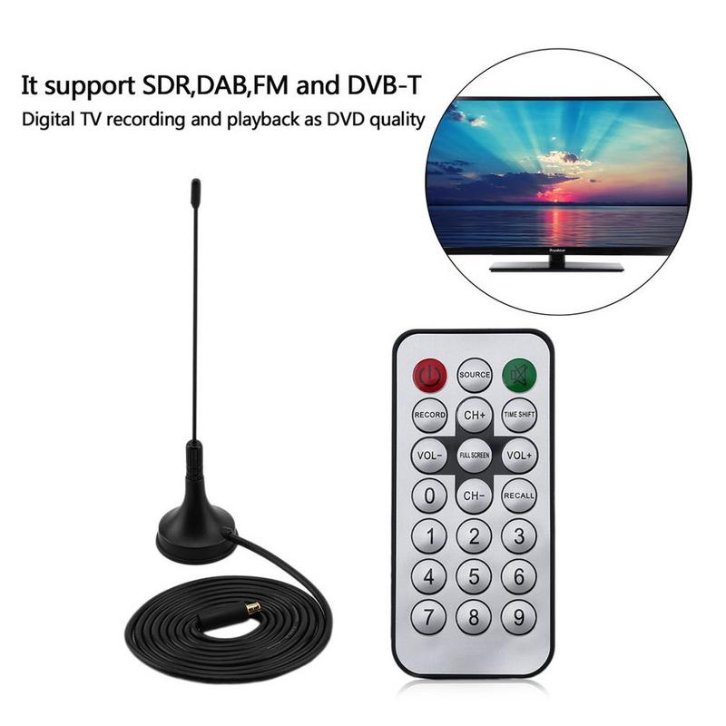USB 2.0 Digital DVB-T SDR DAB FM TV Tuner Receiver Stick RTL2832U R820T2  for Windows 2000 XP Vista Win7