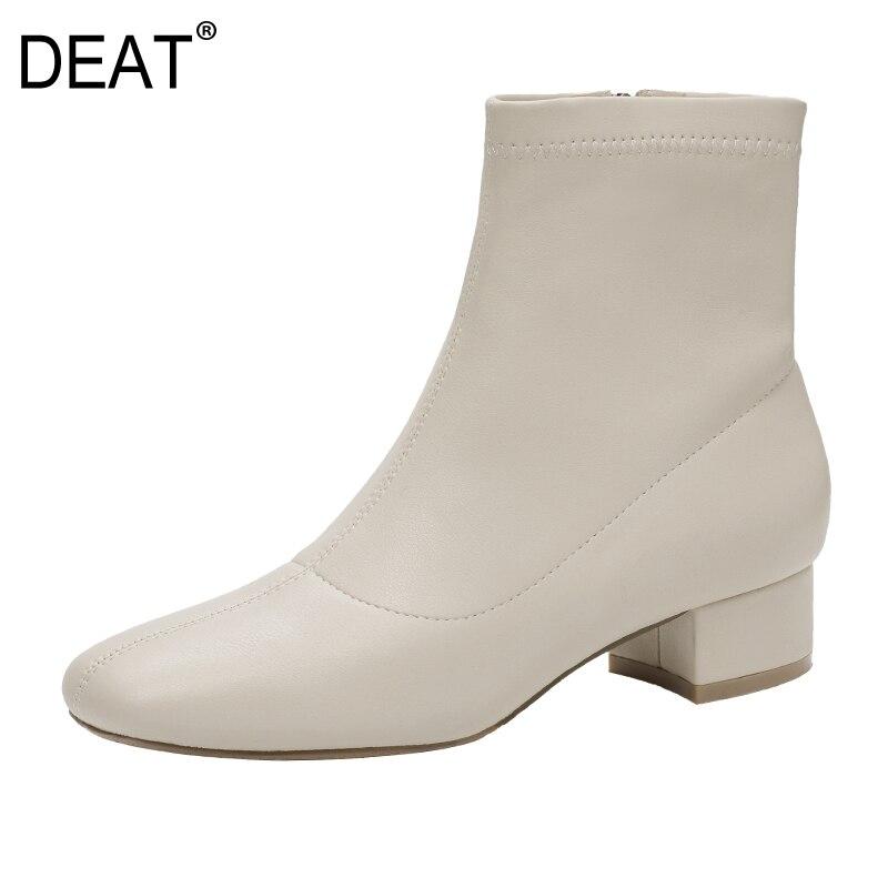 Zpper Chaussures Printemps Pu Commune Brève Sid 10sj009 Hauts Femmes Noir Simples Bottes Beige Talons En De Nouveau Cuir deat2019 Fendue D'été Mode black nOPN08wkX