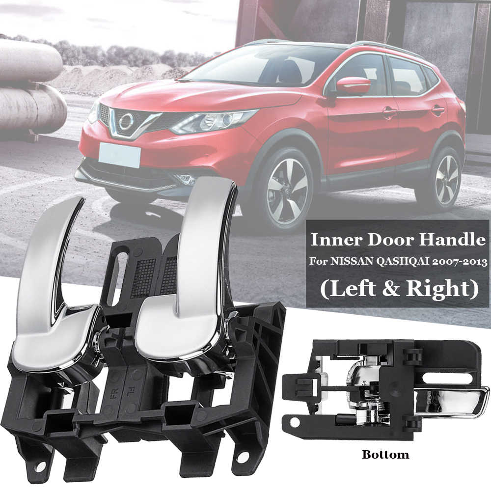 2 pcs Black Plastic Left Right Interior Inner Door Handles 80671JD00E For NISSAN QASHQAI  2007-2013 Auto Car Accessories