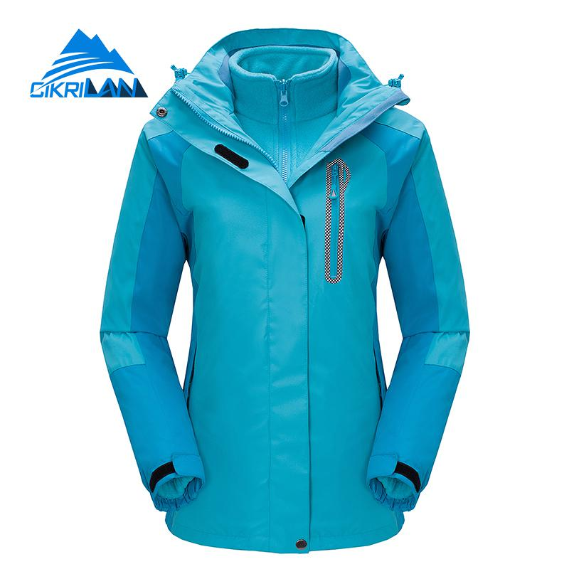 2019 Hiking Ski Snowboard Sportswear Coat Windproof Waterproof Outdoor Winter Jacket Women Camping Chaquetas Mujer Fleece Liner
