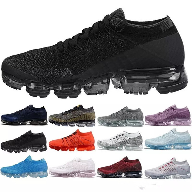 New 2018 Air Vapormax Flyknit Men s Women Max 2018 Running Shoes Sports  Sneakers Outdoor Athletic Max Running shoes 36-45 177673181