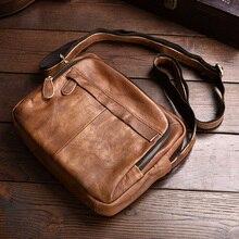 Genuine Leather Men's Shoulder Bag Vintage Male Handbags Messenger Bags Men Business Crossbody Bag Handtasche все цены