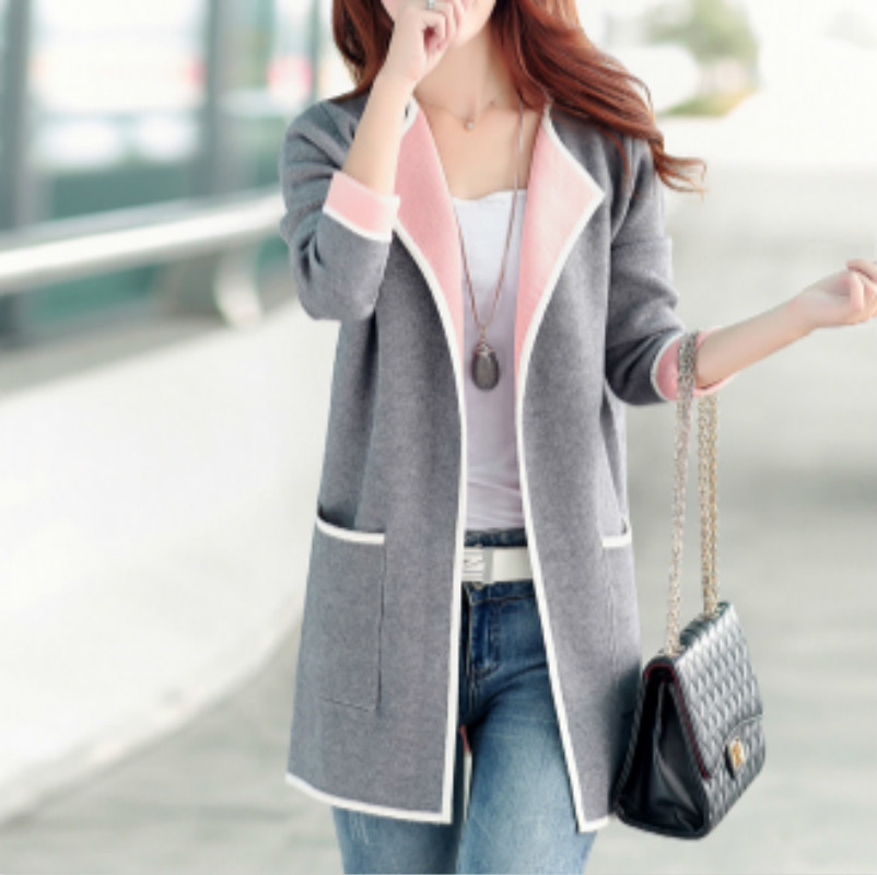 XUXI Fashion Women Knitted Sweater Casual Cardigan Long Sleeve Jacket Coat Long Outwear Tops Plus Size 5XL FZ160