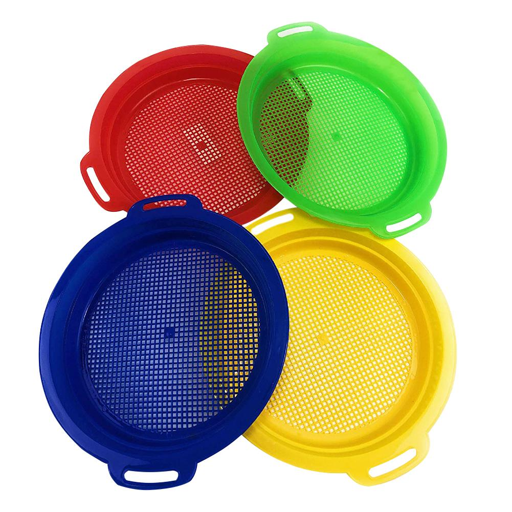 Beach/sand Toys Toys & Hobbies 4 Pack/set Summer Stop Beach Sand Sifter Sieves Toy For Children Kids Boys Girls Funny Toy To Invigorate Health Effectively