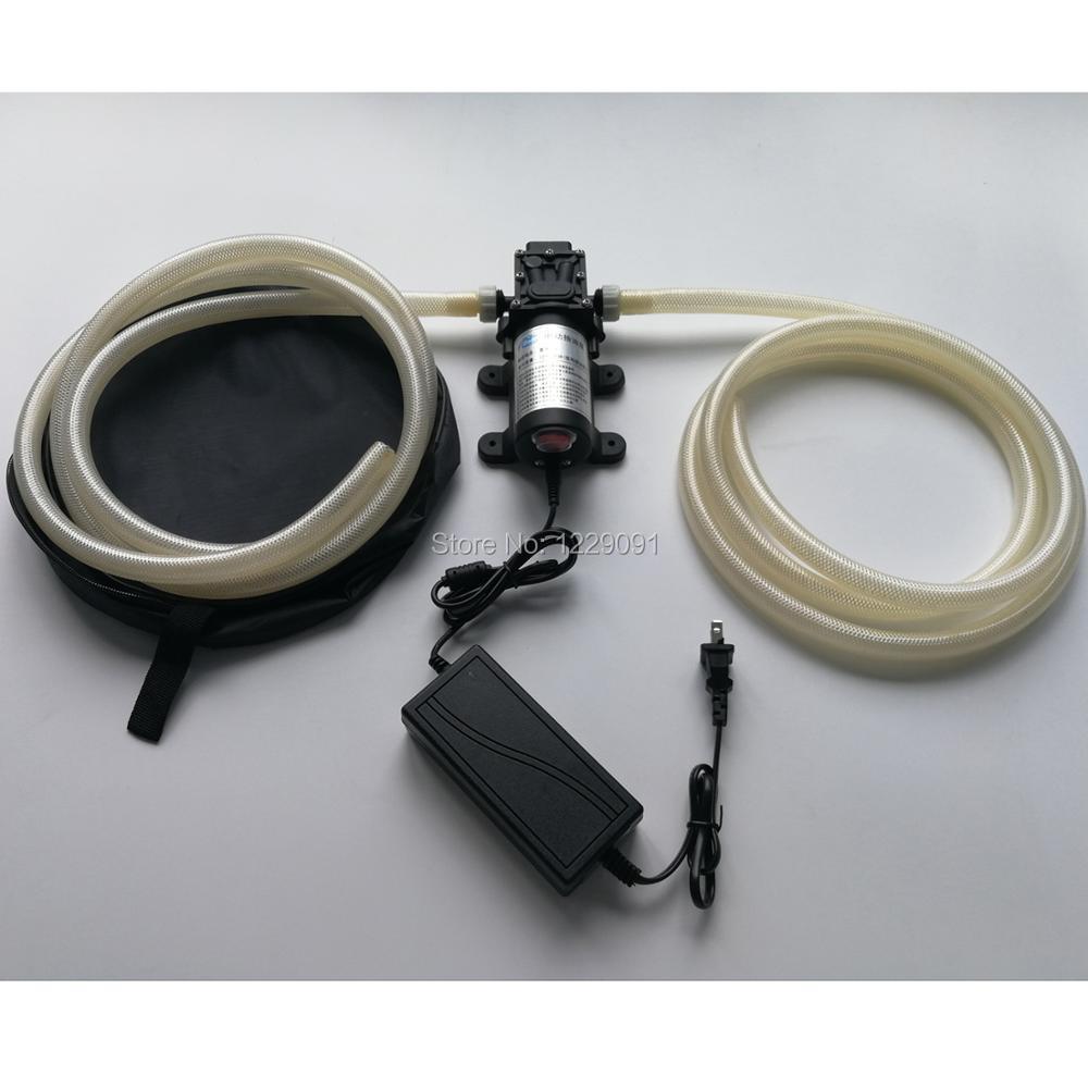 Pompe à huile à essence 12 V 40 W 12L/min pompe à huile diesel électrique à grand débit pompe à huile de voiture réglée avec tuyau de 12mm