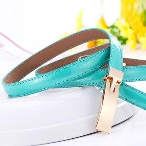 Hot Sale fashion Cowskin bottom Smooth Buckle Thin Female Belts for Women Cummerbunds Korean Fashion Girdles Candy