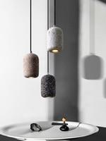 Vintage Esszimmer LED Anhänger Lampe Nordic Industrie Wind Zement Anhänger Licht Café Bar Home Deco Hanglamp Beleuchtung Leuchte-in Pendelleuchten aus Licht & Beleuchtung bei