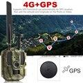 Più nuovo Caccia della macchina fotografica di GPS 4G FDD LTE A Distanza Senza Fili APP di Controllo Camo Gioco di Caccia Trail Macchina Fotografica Della Fauna Selvatica trappola 4G 3G HD