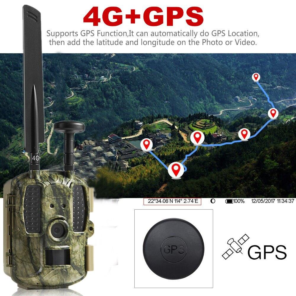 Più nuovo di Caccia della macchina fotografica GPS Senza Fili 4g FDD LTE Remote APP di Controllo Camo Gioco di Caccia Trail Macchina Fotografica Della Fauna Selvatica trappola 4g 3g HD