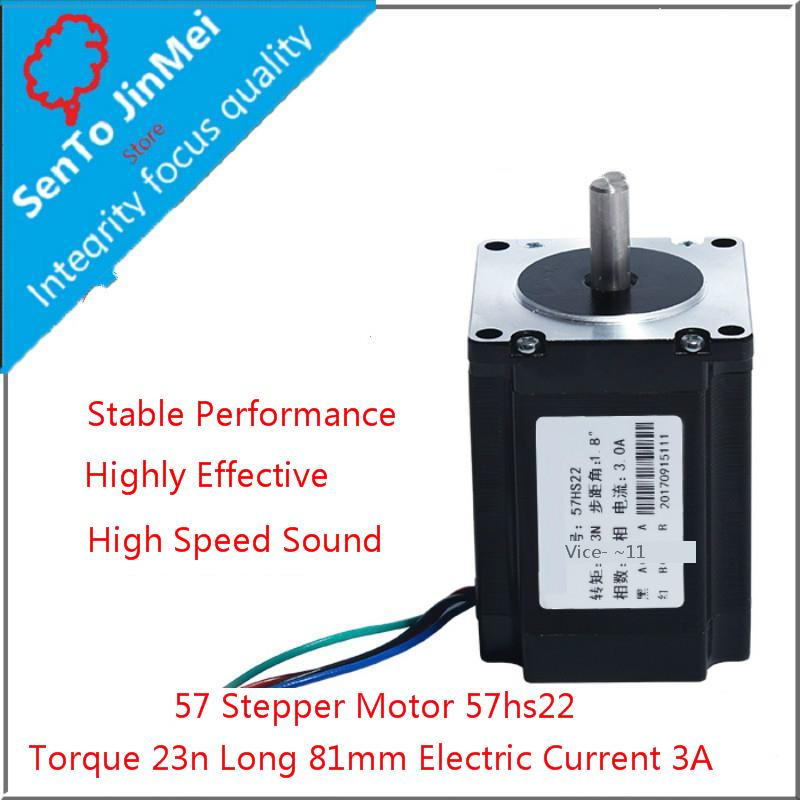 57 Stepper motor 2.3N Drive Motor 57HS22 Two Mutually Four Line 3A Carving Machine Machine Long 81mm57 Stepper motor 2.3N Drive Motor 57HS22 Two Mutually Four Line 3A Carving Machine Machine Long 81mm