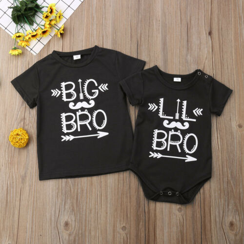 Family Newborn Infant Kid Baby Boy Little Brother Romper Big Brother T-shirt Clothes