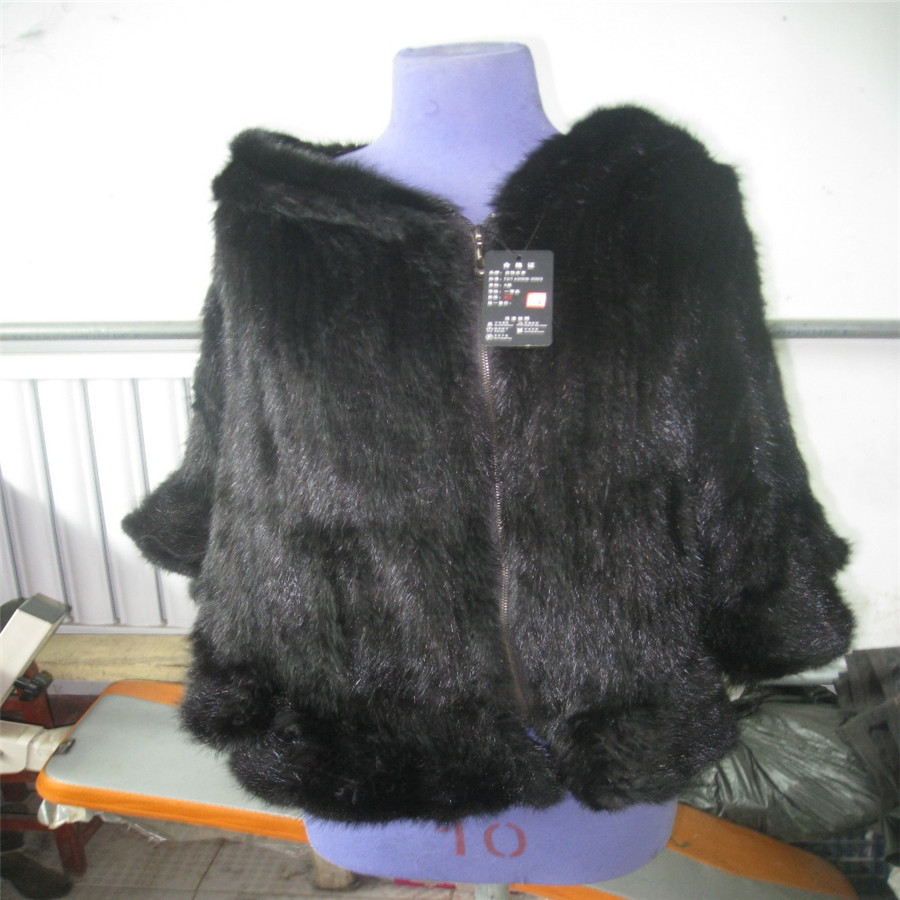 Russia The Real Mink Fur Knitted shawl Coat Autumn and Winter Warm Thick Cloak from the Factory Direct Whole Sale Trading hm035 real genuine mink hat winter russian men s warm caps whole piece mink fur hats