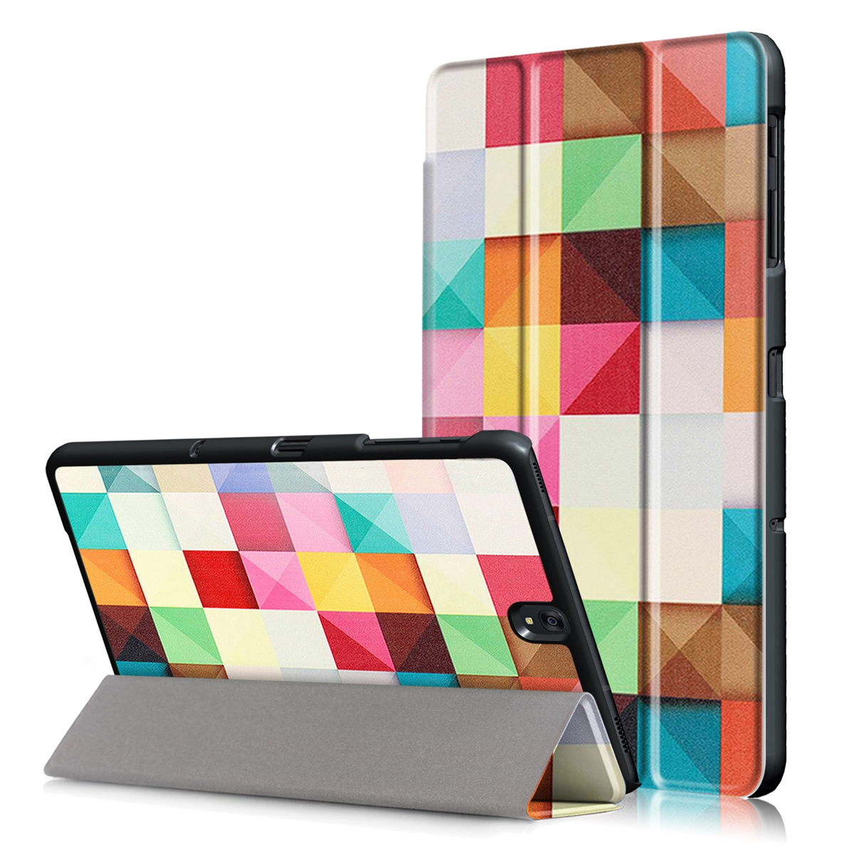 Tri-Fold PU Leather Tablets Cases For Samsung Galaxy Tab S3 9.7 T820/T825 Stand Tablet Case With Auto Wake/Sleep