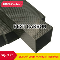 FREE SHIPPING SQUARE 30mm x 28mm x 500mm High Quality 3K Carbon Fiber Fabric Wound/winded Tube