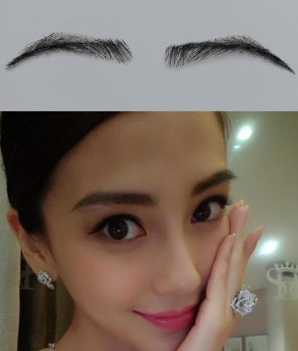 FXVIC 2018 Kampanjförsäljning Sobrancelha Ögonbryn Partihandel Färgprinsessan Fake False Made Of 100% Natural Hair / Dubai Human