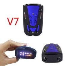 Автомобильный Антирадары V 7 Английский Русский Авто 360 градусов для транспорта V7 Скорость голосового оповещения сигнал тревоги Предупреждение 16 диапазоном светодиодный Дисплей