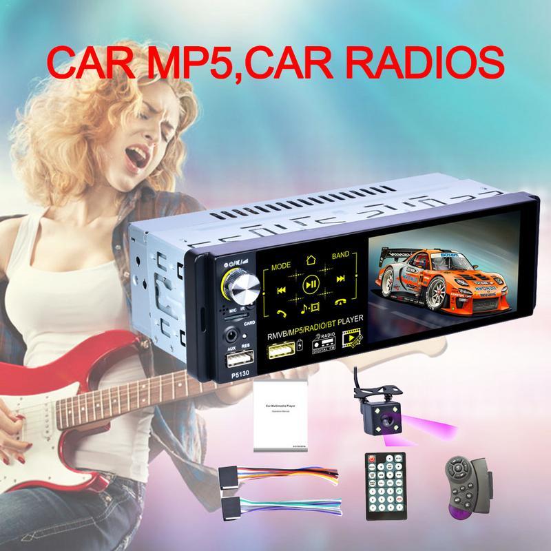 Autoradio automatique 1din 4.1in écran tactile Audio miroir lien stéréo Bluetooth IR caméra de recul USB lecteur Aux AM/FM/RDS Radio - 2
