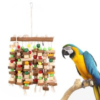 LICG Bird Chewing Toy Large Medium Parrot Cage Bite Toys African Grey Macaws Cockatoos Eclectus