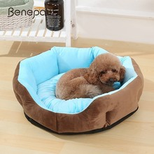Benepaw Super Soft Pet Bed Dog 4 Colors Cozy Antiskid Small Sleeping Dog Bed Quality Pet House Rose Red/Blue/Violet/Apricot