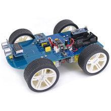 Rowsfire High-tech Programmeerbare Jongens 4wd Bluetooth Smart Auto Ultrasone Display En Obstakel vermijden Kit + tutorial Voor Arduino(China)