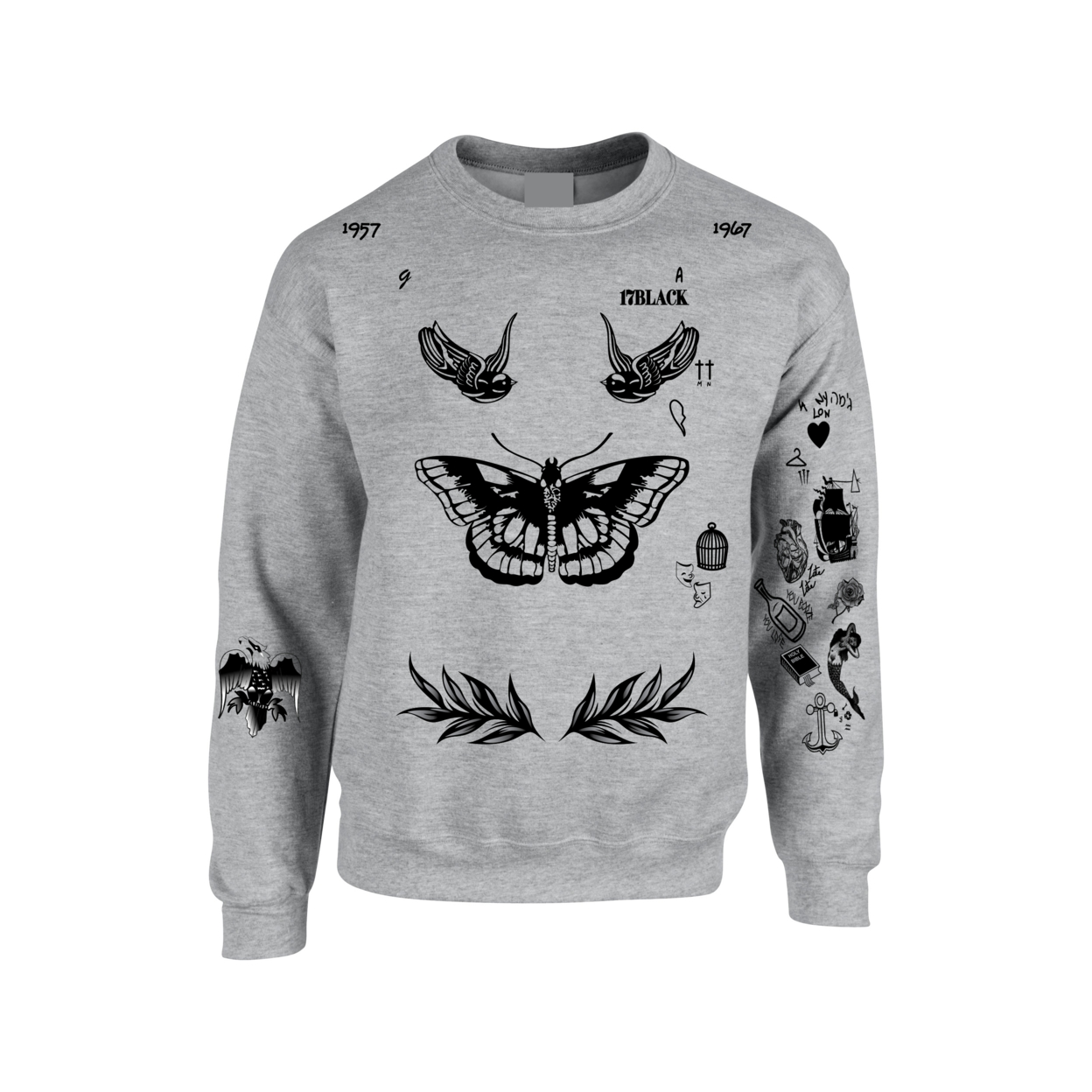0acea67758a2 Harry Styles Tattoo Crewneck Sweatshirt One Direction on Aliexpress.com
