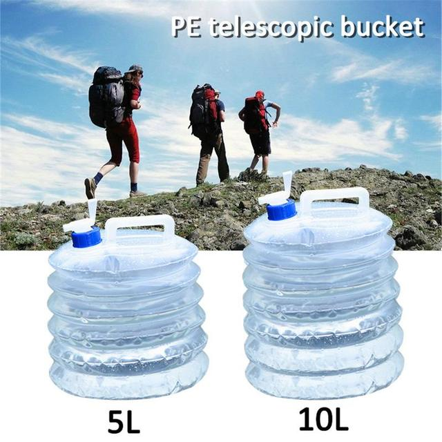 1pc 5L/10L Outdoor Camping Water Bag 10