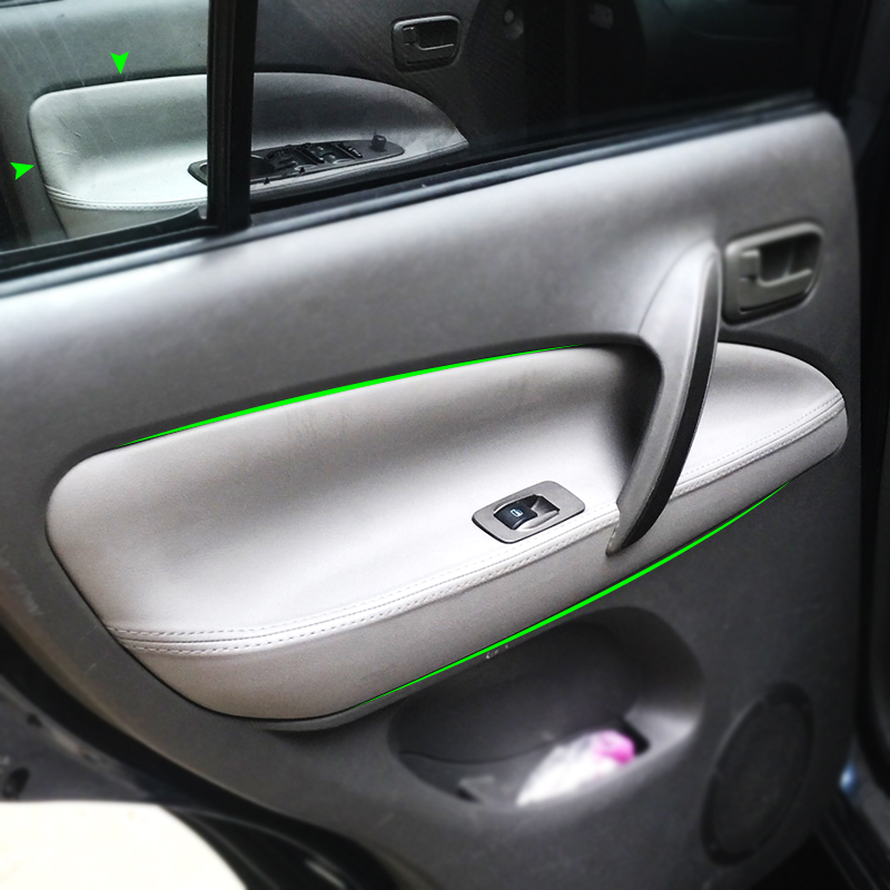 Car Microfiber Leather Door Handle Armrest Panel Cover For Chery Tiggo 2005 2006 2007 2008 2009 2010(China)