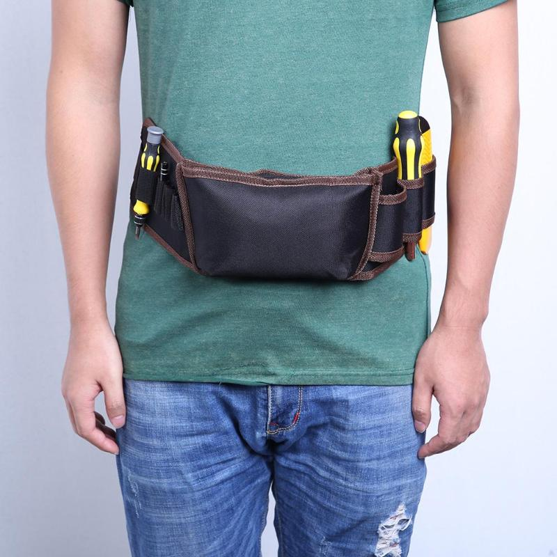 Zipper Cloth Tool Bag Multifunction Electrician Zipper Cloth Tool Bag Belt Kit Pocket Instrument Tool Case Storage Pouch